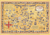 A World of Stamps Vintage Map of the World Poster