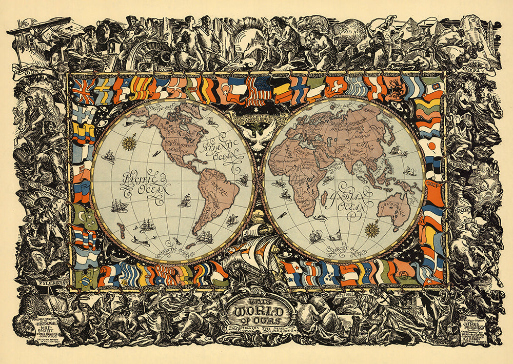 The World of Ours Poster - Perfect for Living Room and Office ! - Kuriosis Vintage Prints