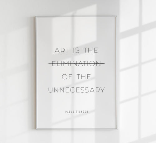 Art is the Elimination Quote Poster