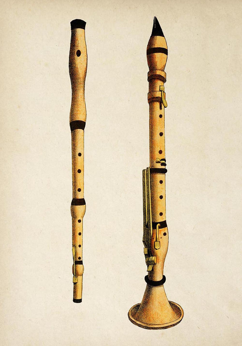 Antique Flute Poster by KURIOSIS