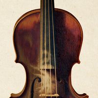 Antique Violin Poster by KURIOSIS