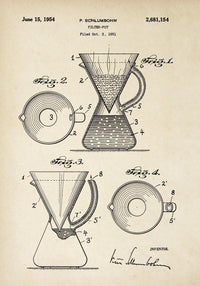 Antique Coffee Pot Poster by KURIOSIS