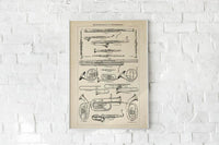 Antique Wind Instruments Poster by KURIOSIS