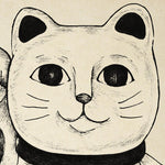 Antique Lucky Cat Poster by KURIOSIS