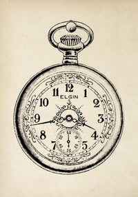 Antique Elgin Watch Poster by KURIOSIS