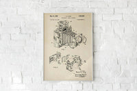 Antique Polaroid Camera Poster by KURIOSIS