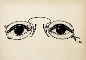 Antique Eyes with Glasses Poster by KURIOSIS