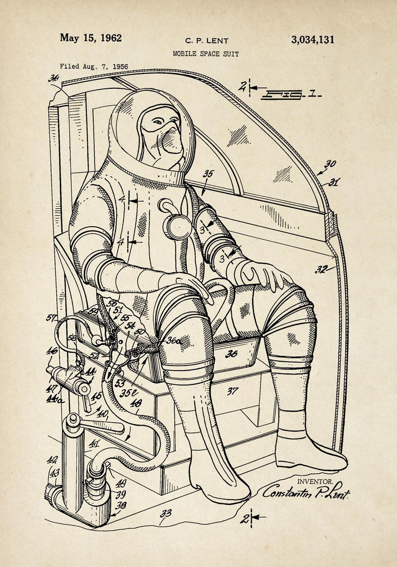 Antique Space Suit Poster by KURIOSIS