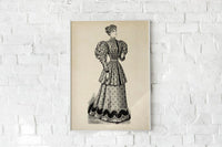 Antique Victorian Woman Poster by KURIOSIS
