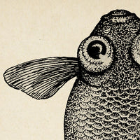 Antique Fish Poster by KURIOSIS