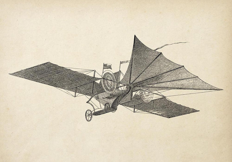 Antique Hensons Flying Machine Poster by KURIOSIS