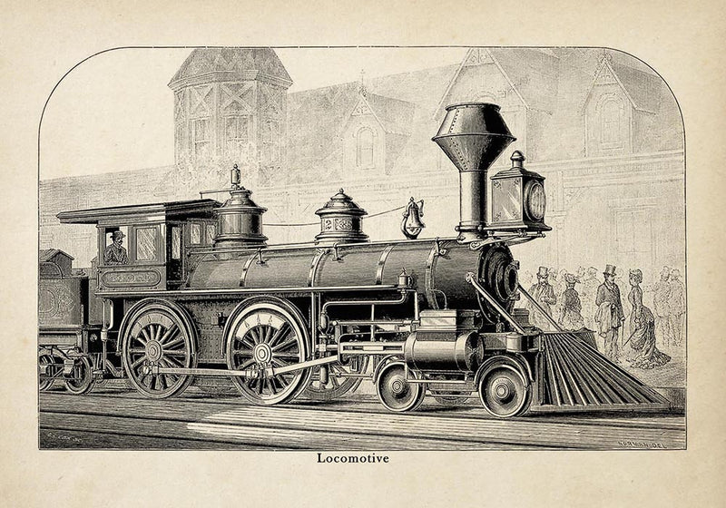 Antique Locomotive I Poster by KURIOSIS