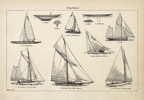 Antique Sailing Boats Poster by KURIOSIS