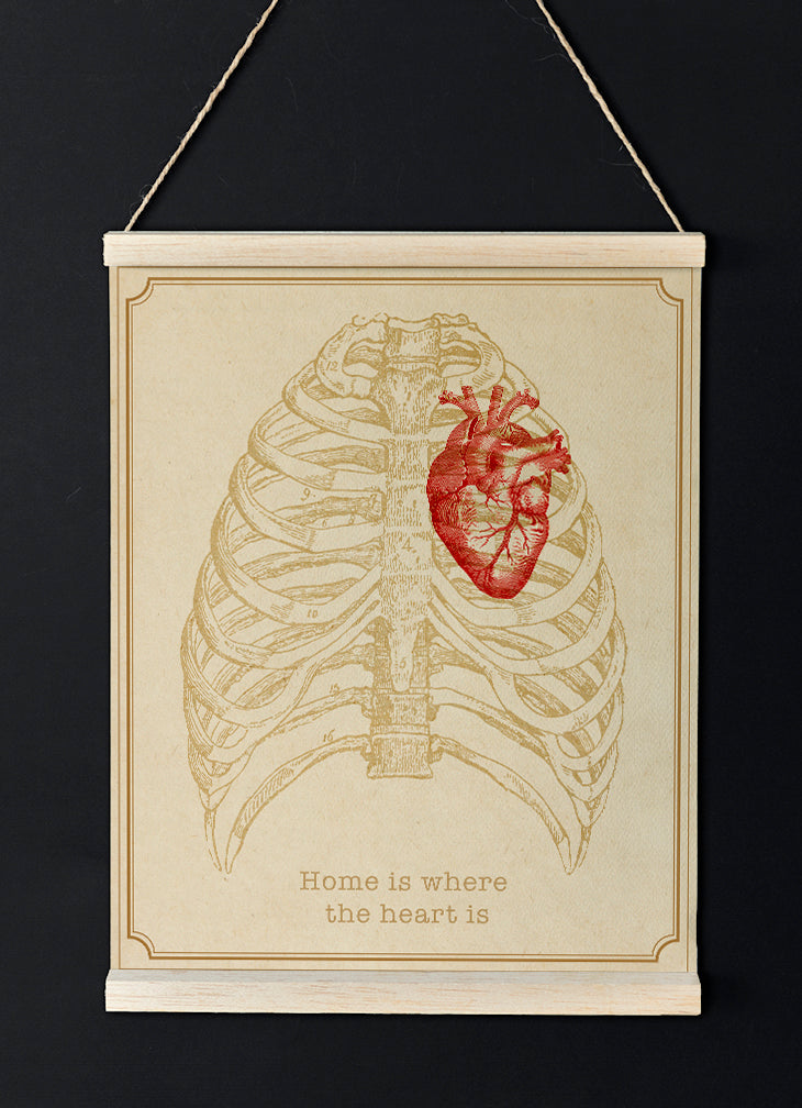 Home is where the heart is - Vintage Quote Poster