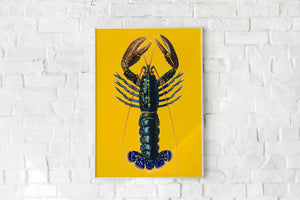 Lobster Yellow Poster