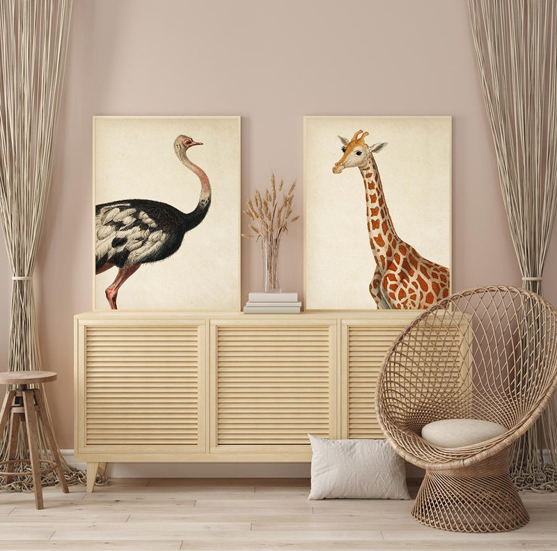 Animal Poster Set of 2 Prints