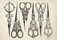 The Antique Scissors Poster - Kuriosis Vintage Prints