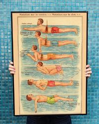 The Swimmer - Kuriosis Vintage Prints