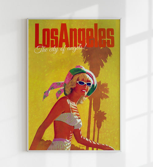 "Los Angeles ""The city of angels!"" Retro Travel Poster"