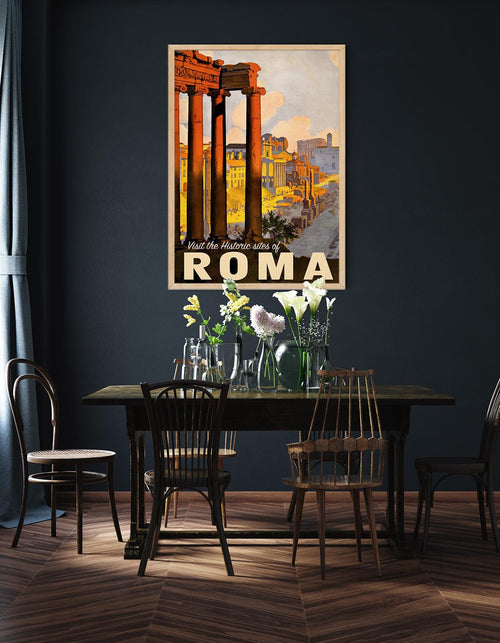 Roma Travel Vintage Poster