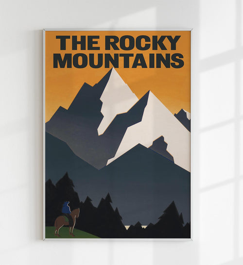 The Rocky Mountains Vintage Travel Poster