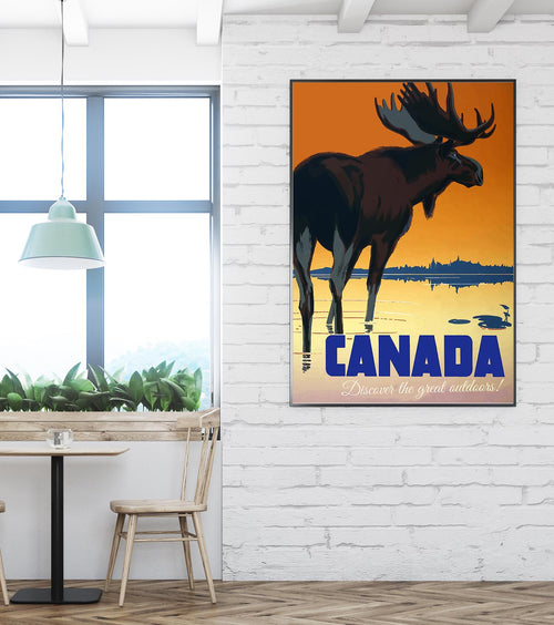 Canada Vintage Travel Poster