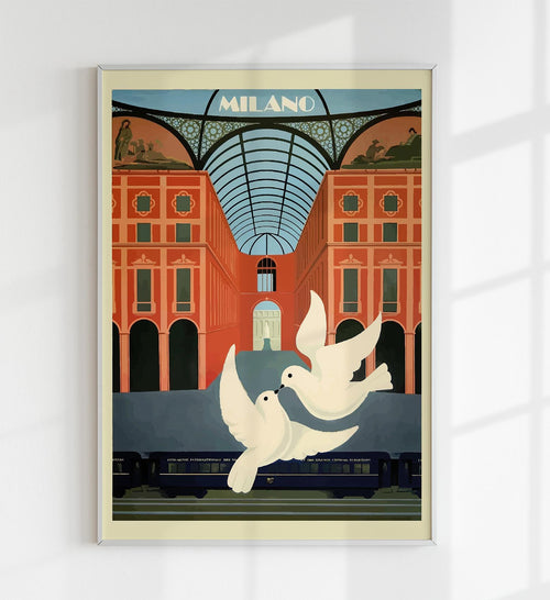 Milano Vintage Travel Poster