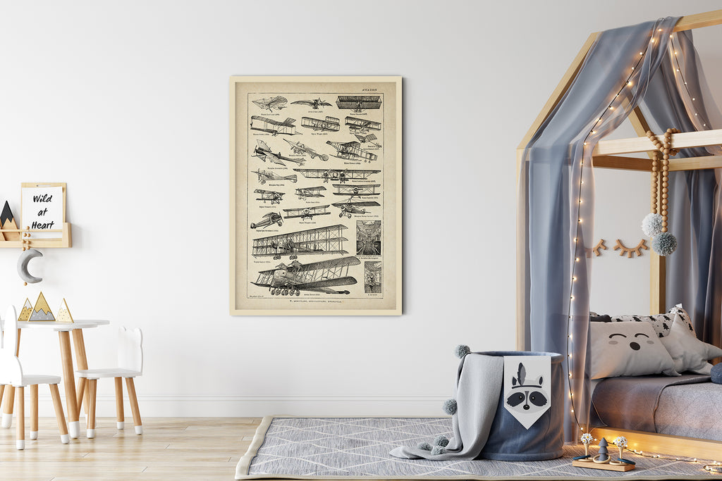Aviation Chart Larousse Poster - Perfect for Living Room and Office !
