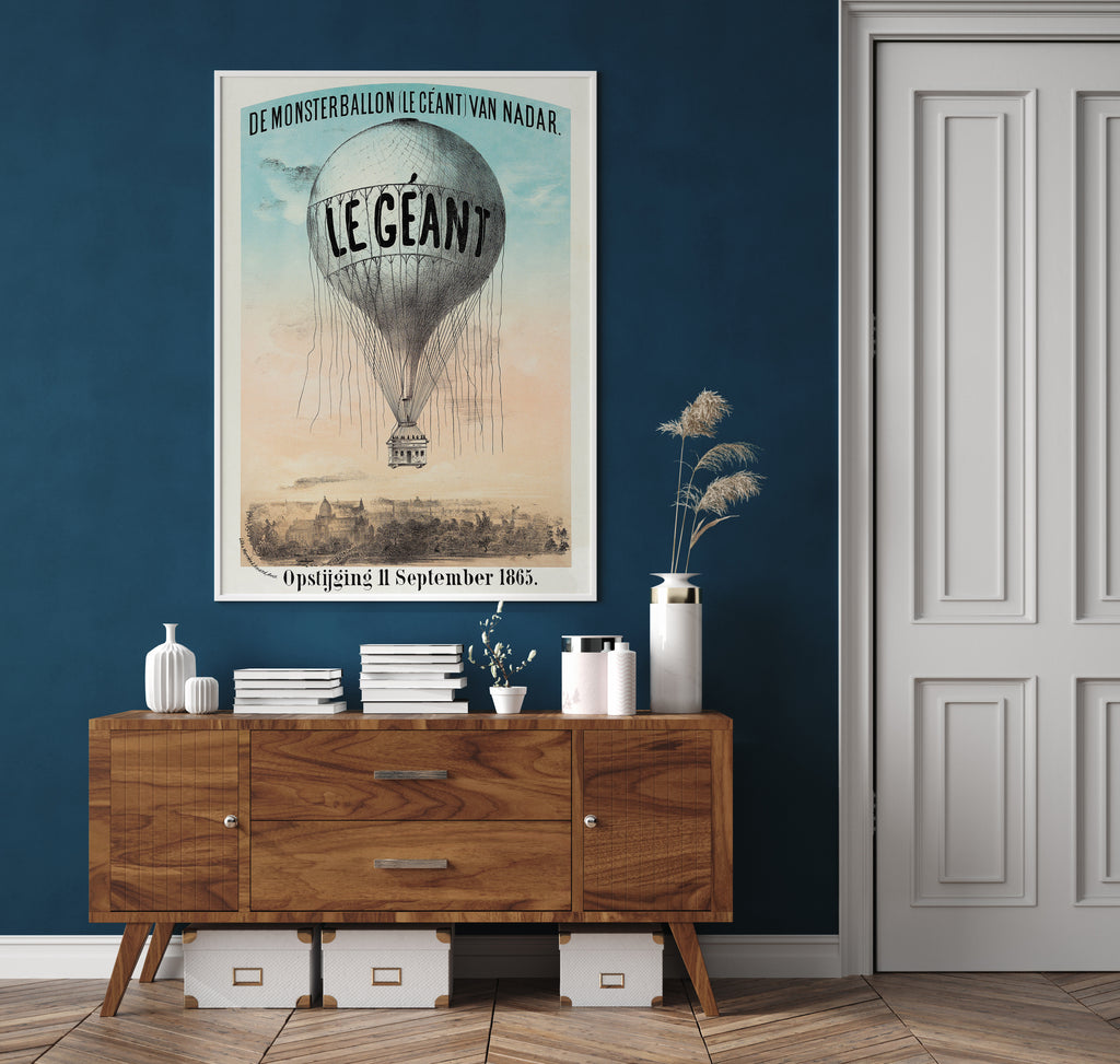 Balloon Le Giants Poster - Perfect for Kids Room !