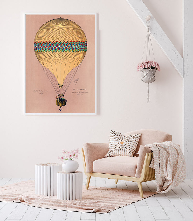 Balloon Tricolore Pink Poster