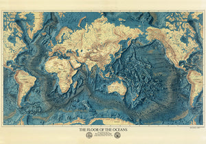 The Floor of the Oceans Poster - Perfect for Living Room and Office ! - Kuriosis Vintage Prints