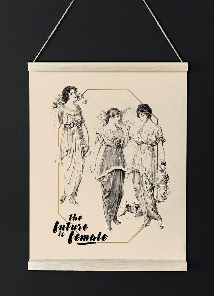 The future is Female Vintage Victorian Girls Poster