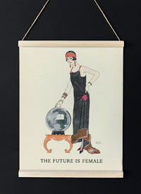 The Future is Female Vintage Fashion Illustration Poster by George Barbier