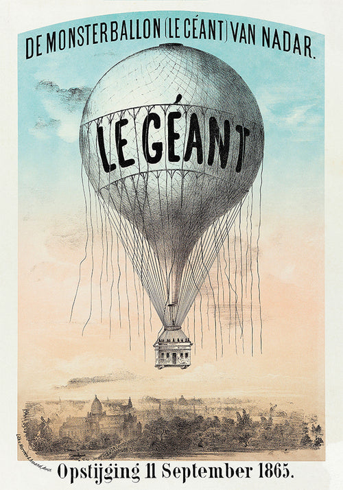Balloon Le Giants Poster - Perfect for Kids Room ! - Kuriosis Vintage Prints