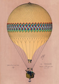Balloon Tricolore Pink Poster - Perfect for Living Room ! - Kuriosis Vintage Prints