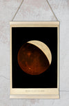 Lunar Eclipse Antique Astronomical Illustration