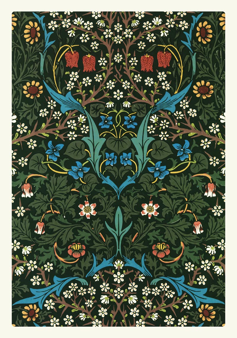 William Morris Vintage Pattern Tulip Poster
