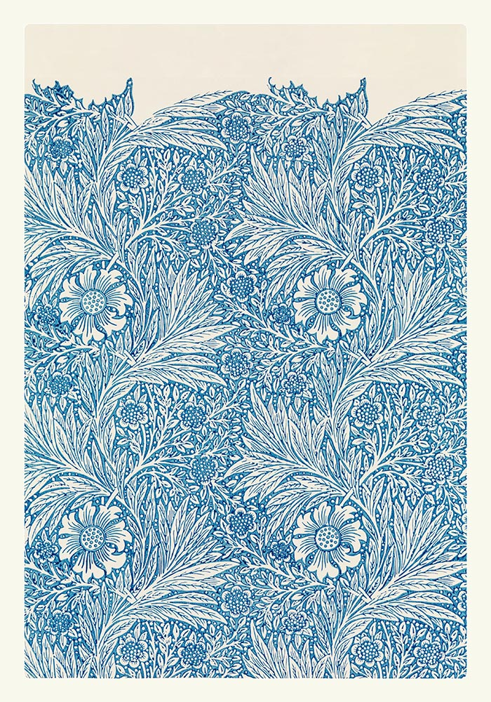 William Morris Blue Marigold Poster