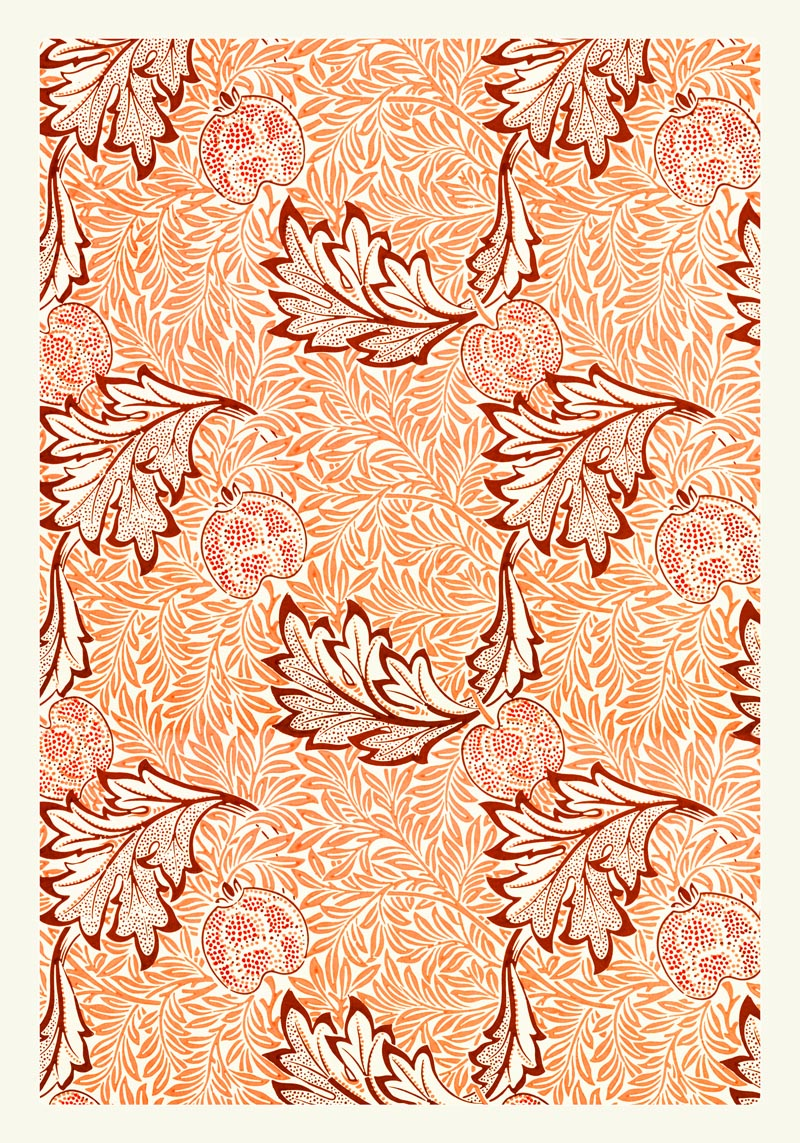 William Morris Apple Pattern Poster