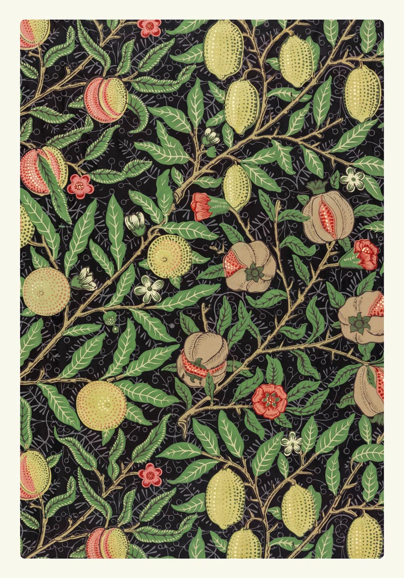 William Morris Fruit Pattern Poster