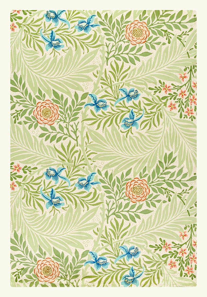 William Morris Larkspur II Poster