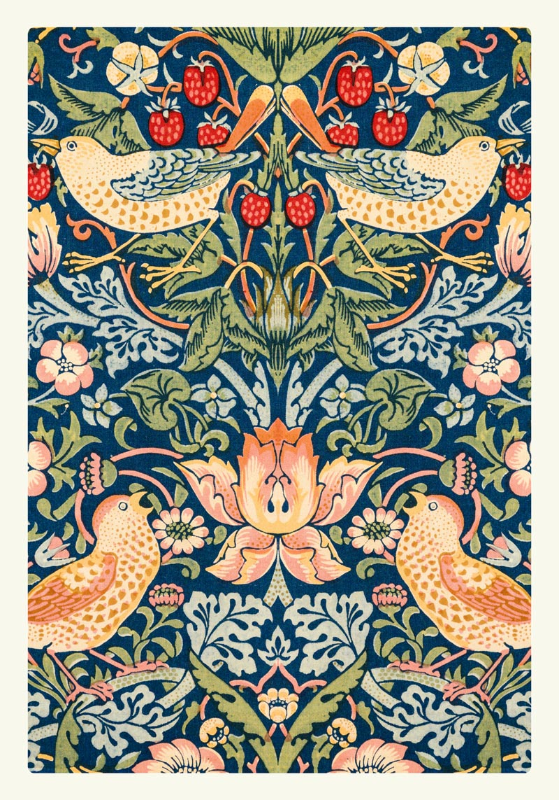 William Morris The Strawberry Thieves Pattern Poster