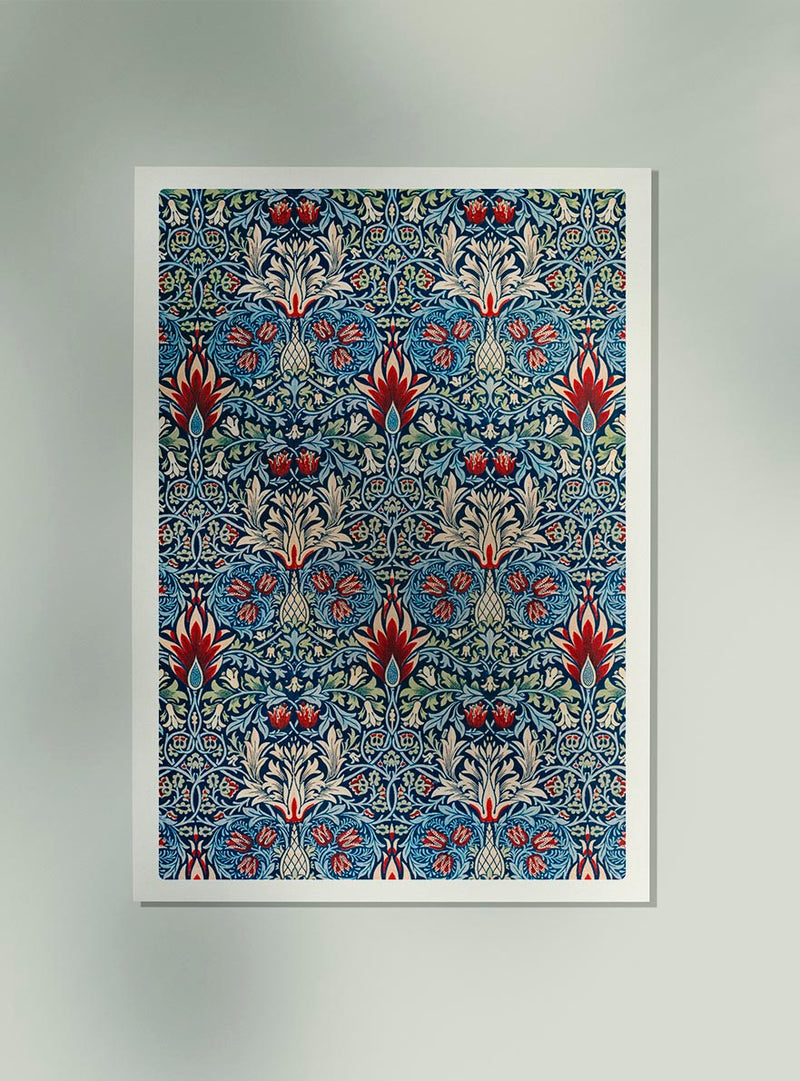 William Morris Snakehead Pattern Poster
