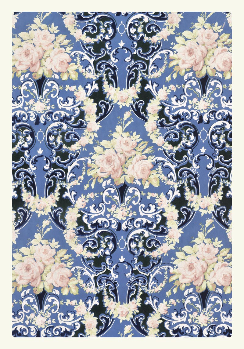 William Morris Floral Bouquets and Swags Poster