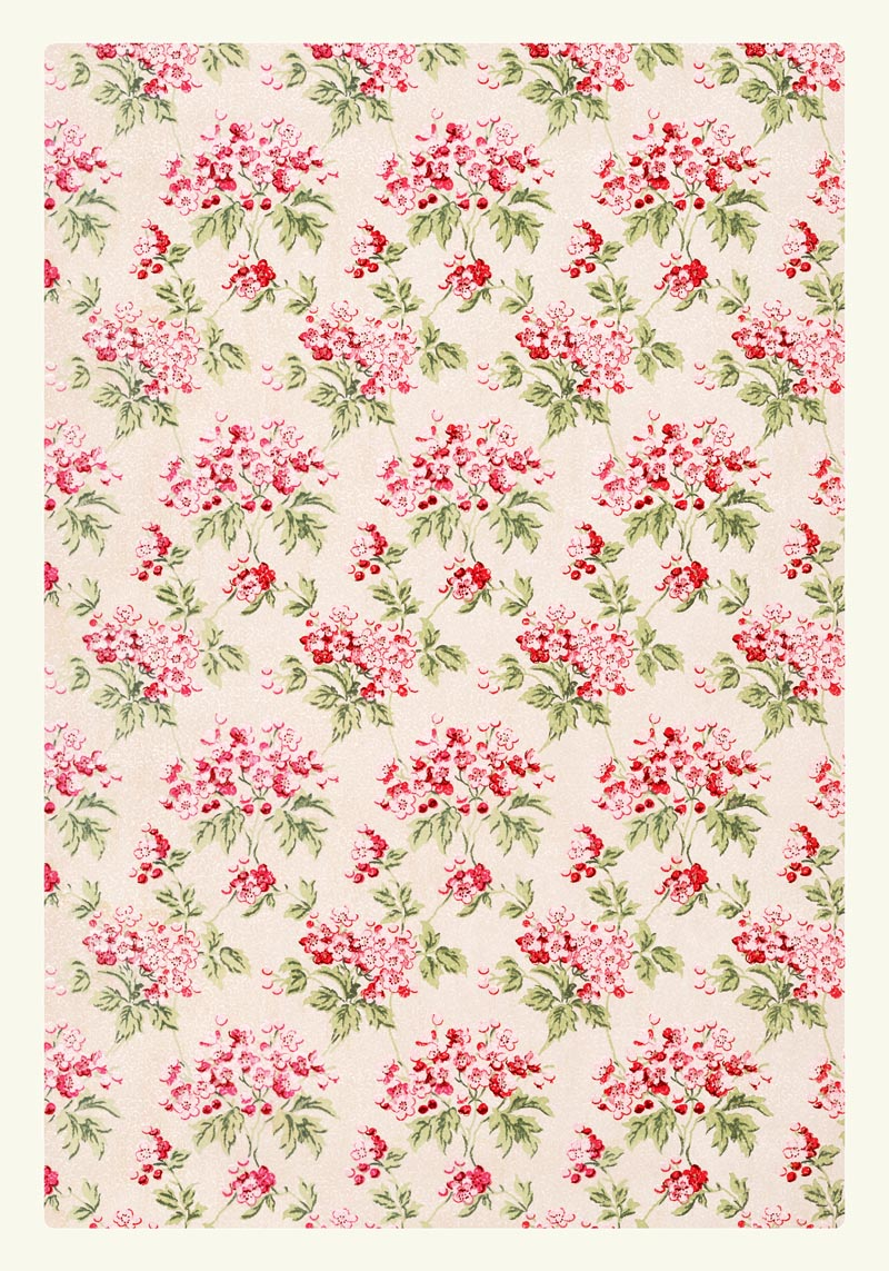 William Morris Pink Flower Wallpaper Poster