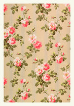 William Morris Vintage Rose Wallpaper Poster