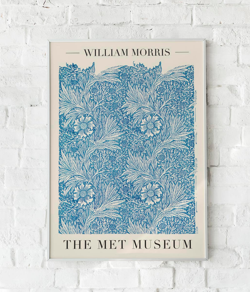 Blue Marigold by William Morris Poster
