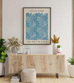 """Blue Marigold"" by William Morris Vintage Art Exhibition Poster by KURIOSIS"