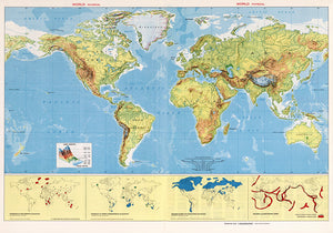 World Physical Poster - Perfect for Living Room and Office ! - Kuriosis Vintage Prints