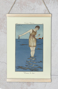 Costume de Bain Vintage Fashion Illustration Poster by George Barbier